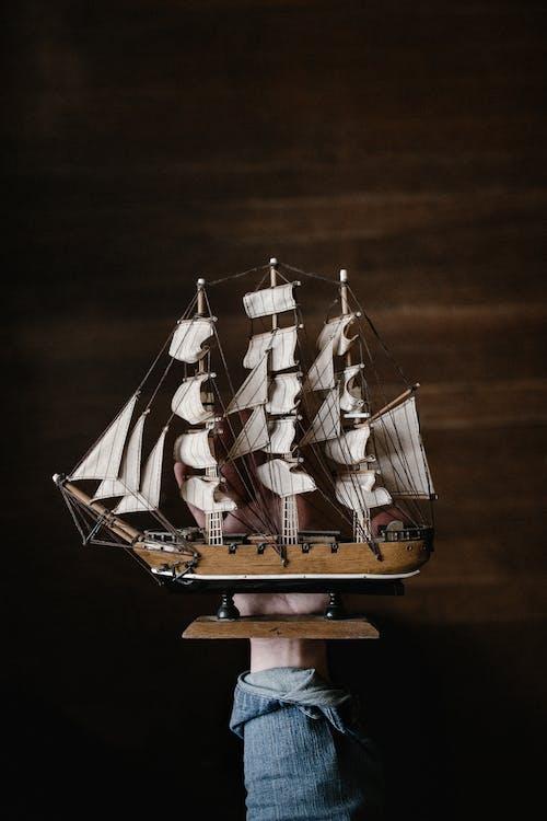 årgang, båd, denim