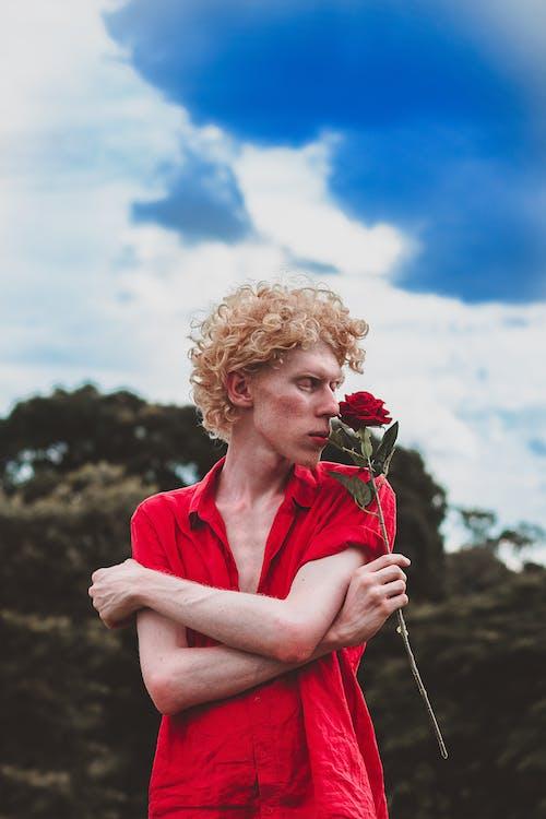 Foto profissional grátis de broto, flor, flora, homem