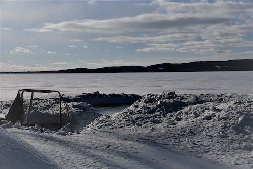 Imagine de stoc gratuită din Cer întunecat, hochei pe gheață, zăpadă