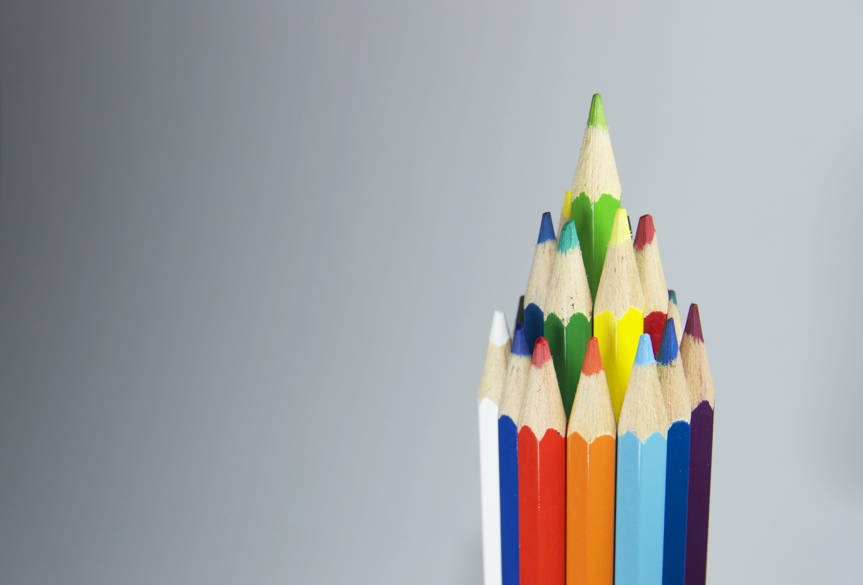 Free stock photo of art, creative, pens, colorful