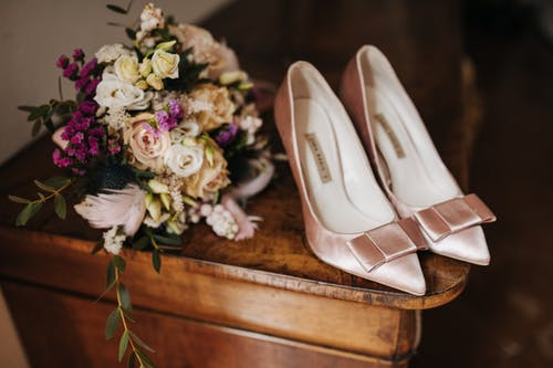Free stock photo of bouquet, details, getting ready, wedding