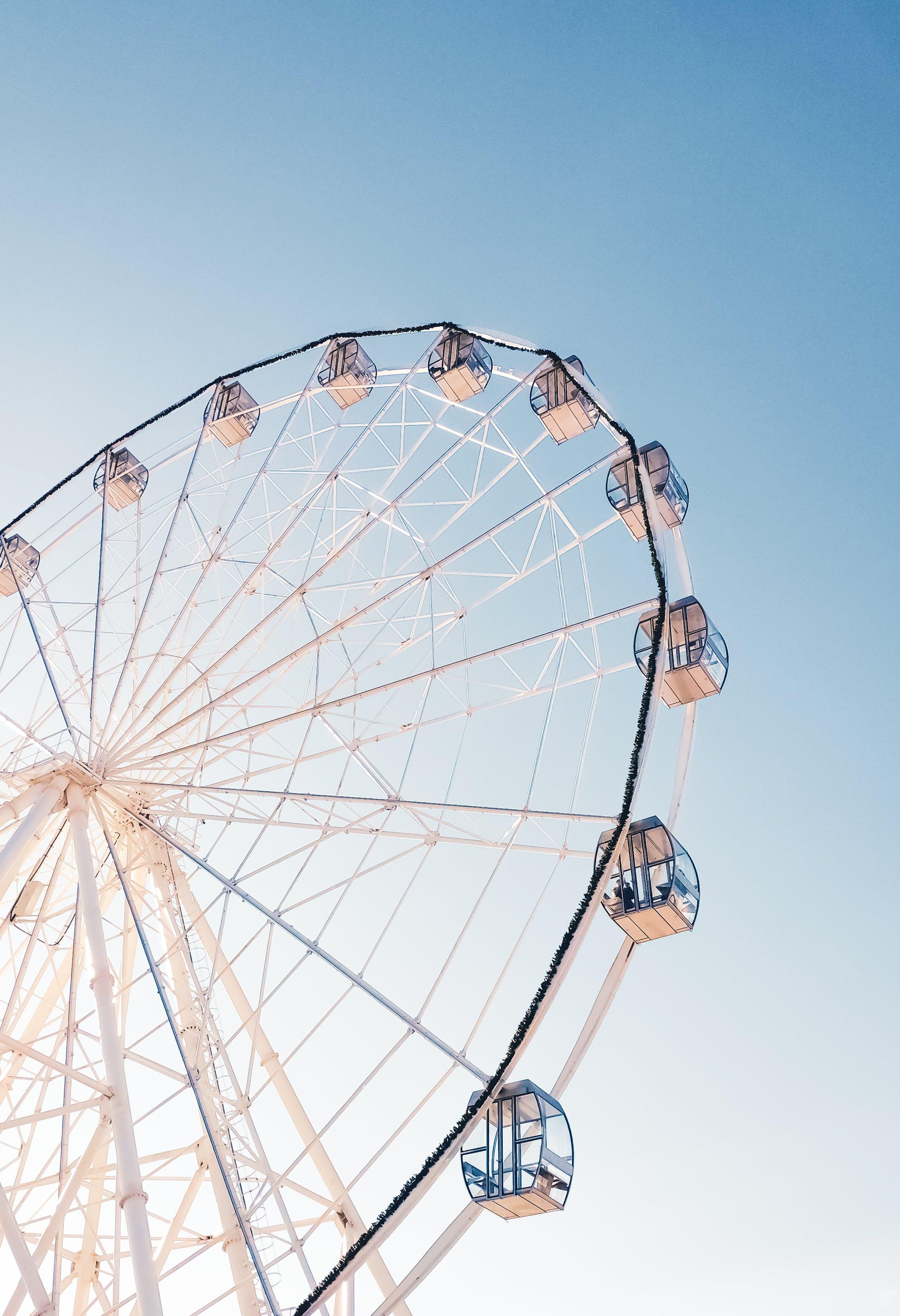 Fotos de stock gratuitas de alto, atracción, noria, parque temático