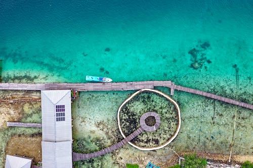 Gratis lagerfoto af droneoptagelse, fra oven, fugleperspektiv, hav