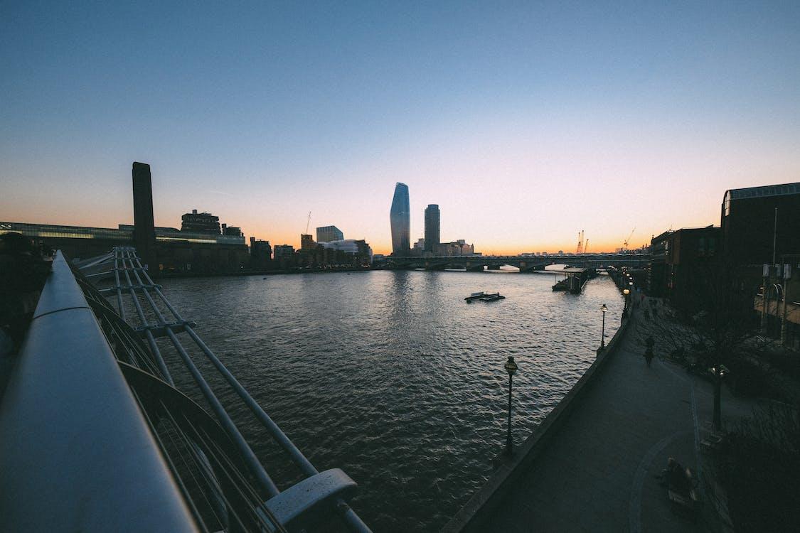 αρχιτεκτονική, γέφυρα, κτήρια