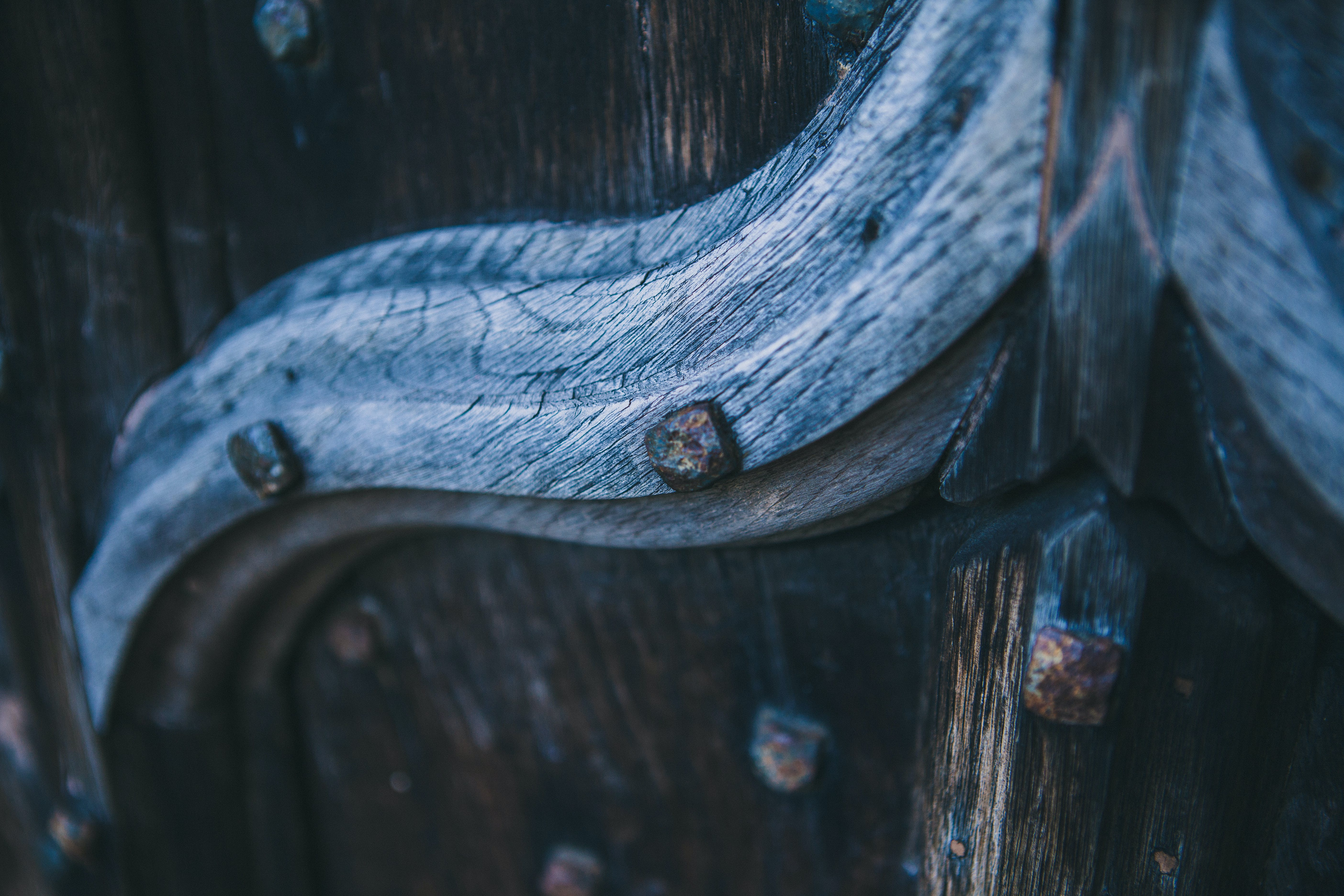 Macro Photography of Brown Wooden Board With Carvings