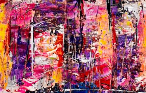 丙烯酸塗料, 帆布, 抽象繪畫, 抽象表現主義 的 免費圖庫相片