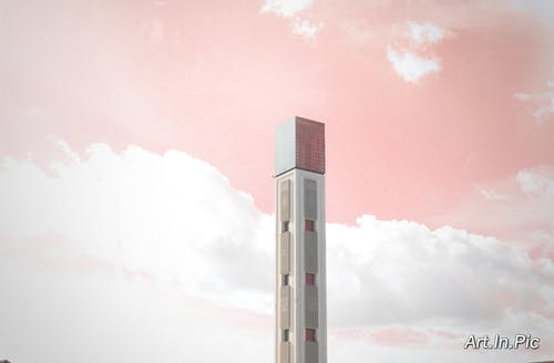 Free stock photo of architecture, clouds, high