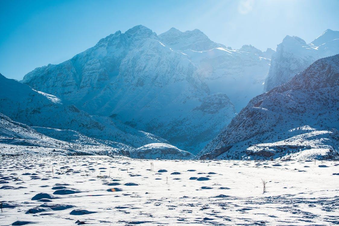 гора, екстремальний, заморожений