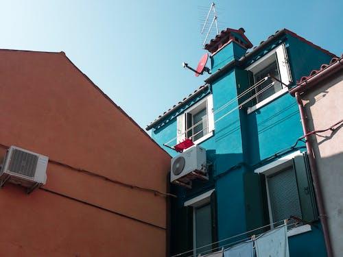 Free stock photo of aesthetics, architecture, blue, building