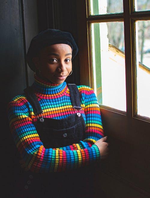 アフリカ系アメリカ人女性, ほほえむ, 人, 女性の無料の写真素材