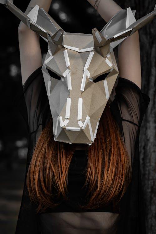 令人不寒而慄的, 女人, 面具 的 免费素材照片