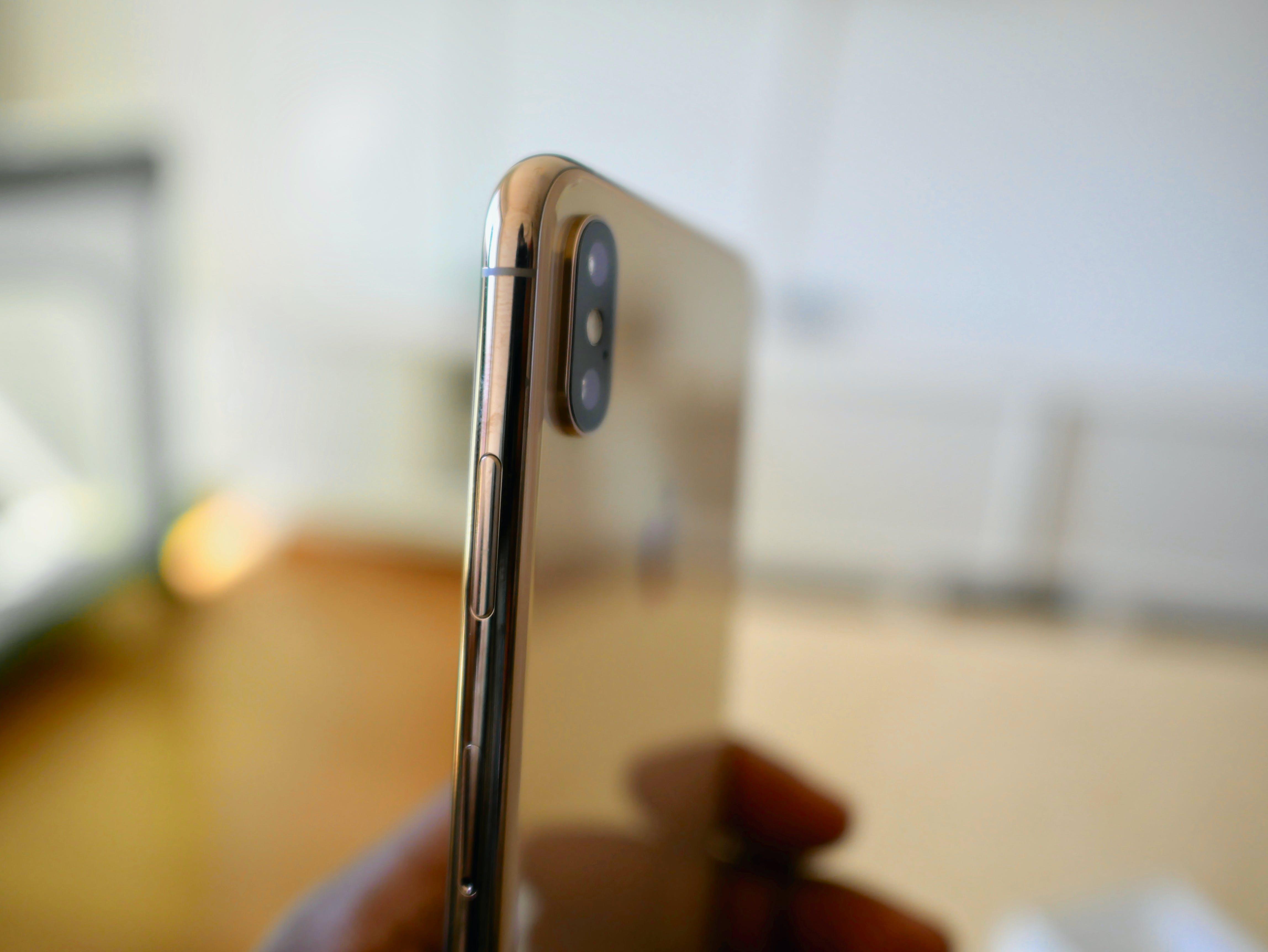 Gratis lagerfoto af guld, iOS, iPhone, iphone xs max