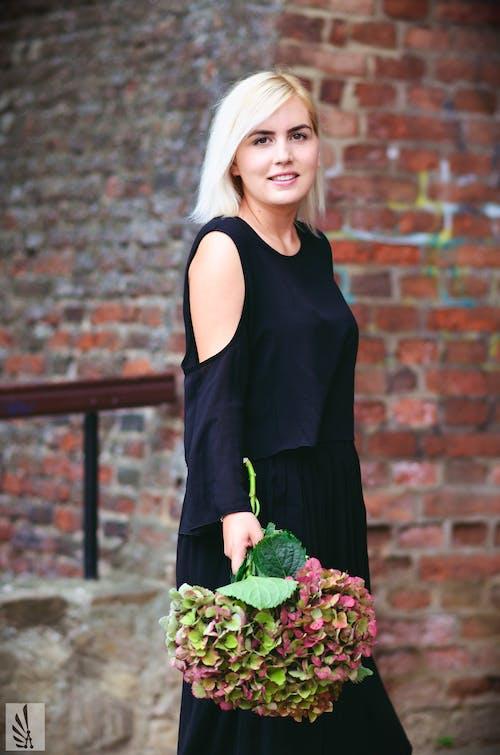 Free stock photo of beautiful, black dress, blond
