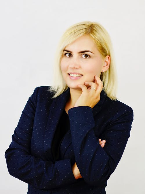 Foto d'estoc gratuïta de blazer, bonic, business headshot, dona