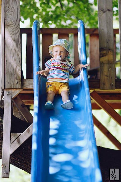 Foto d'estoc gratuïta de bebè, blau, colorit, diapositiva