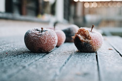 Free stock photo of apple, crisp, frozen, winter