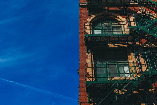 Free stock photo of stairs, building, bricks, fire escape