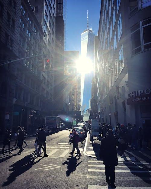 Бесплатное стоковое фото с 1 WTC, всемирный торговый центр, всемирный торговый центр 1, загруженная улица