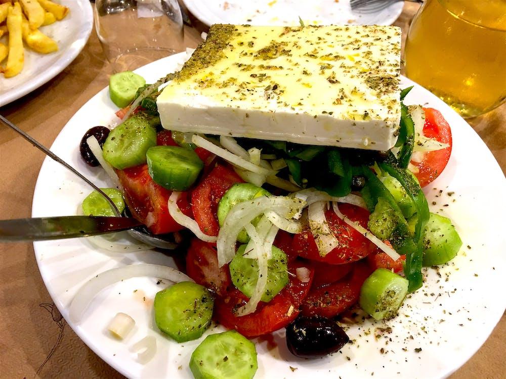 Free stock photo of Authentic Greek Salad