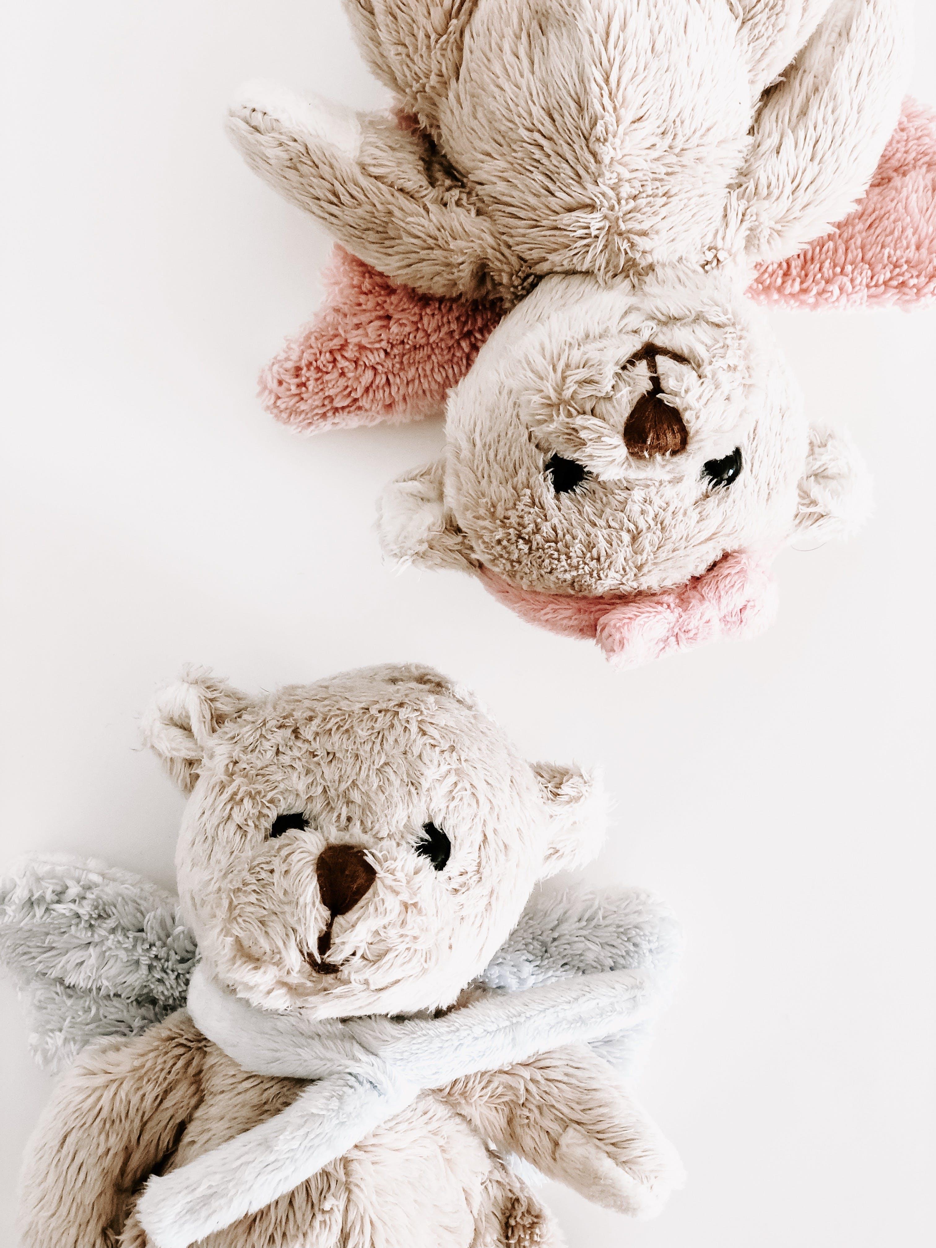 2 Grey Teddy Bears