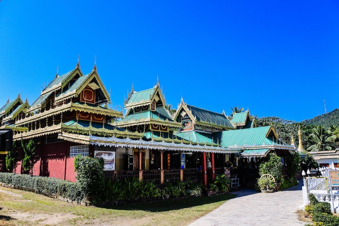 asia, blå, Buddhisme