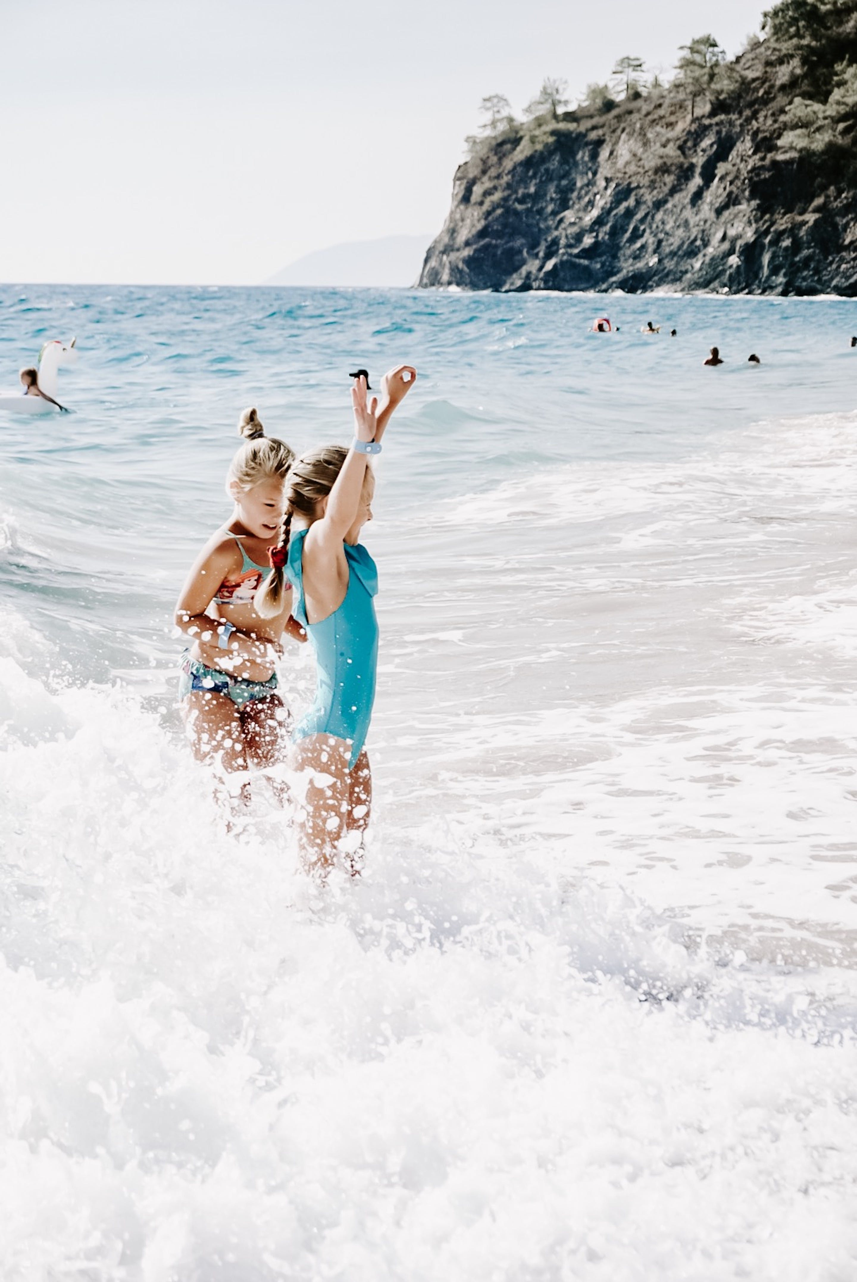 Girl Enjoying on Beach