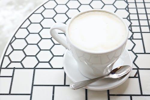 Imagine de stoc gratuită din băutură, cană, cană de cafea, cană și farfurie