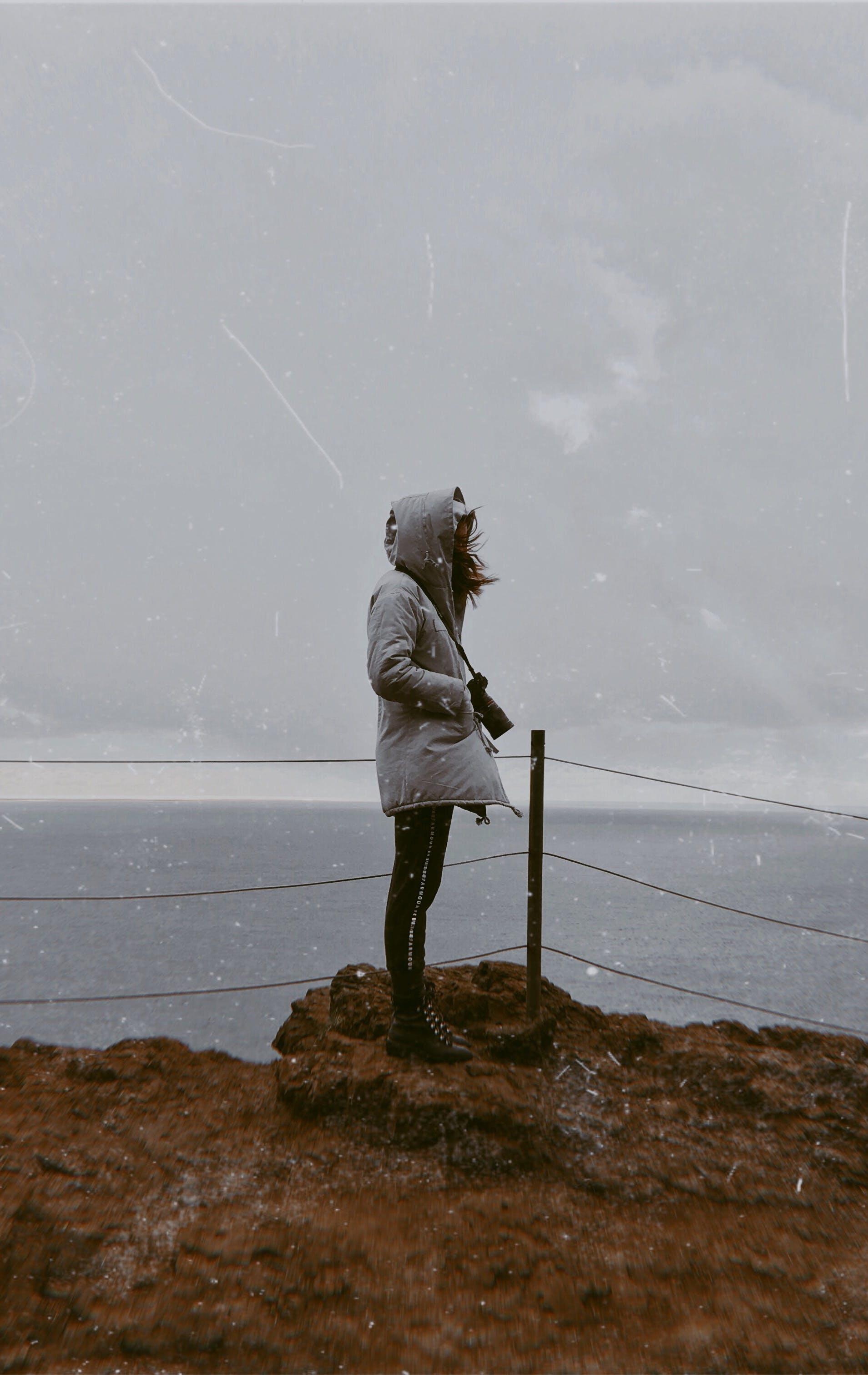 Foto profissional grátis de garota, noroeste pacífico, oceano
