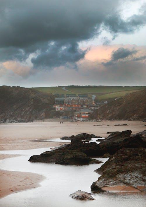Δωρεάν στοκ φωτογραφιών με rock, ακτή, άμμος, αυγή