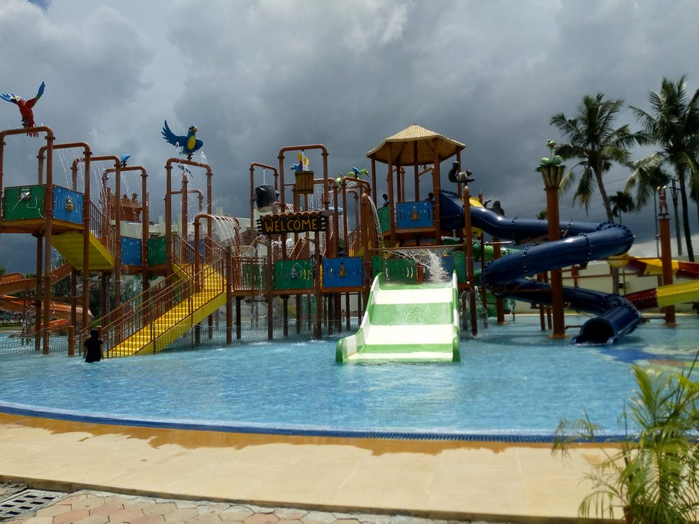 random, water park