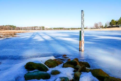 Kostnadsfri bild av frusen sjö, is, vatten, vinter