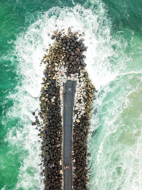 Ilmainen kuvapankkikuva tunnisteilla aallot, droonikuva, droonikuvaus, hiekkaranta