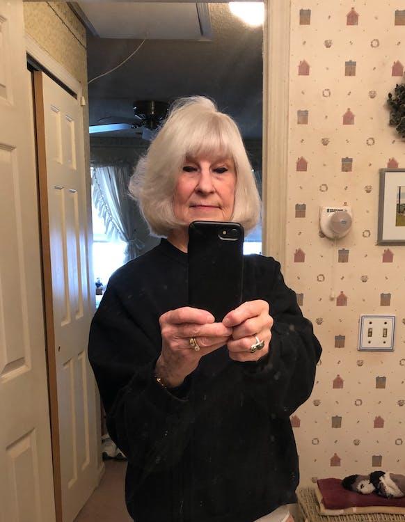 Free stock photo of Appreciating Haircut. Mirror Selfir