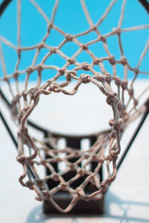 Základová fotografie zdarma na téma basketbal, Basketbalový koš, detailní záběr, dunk