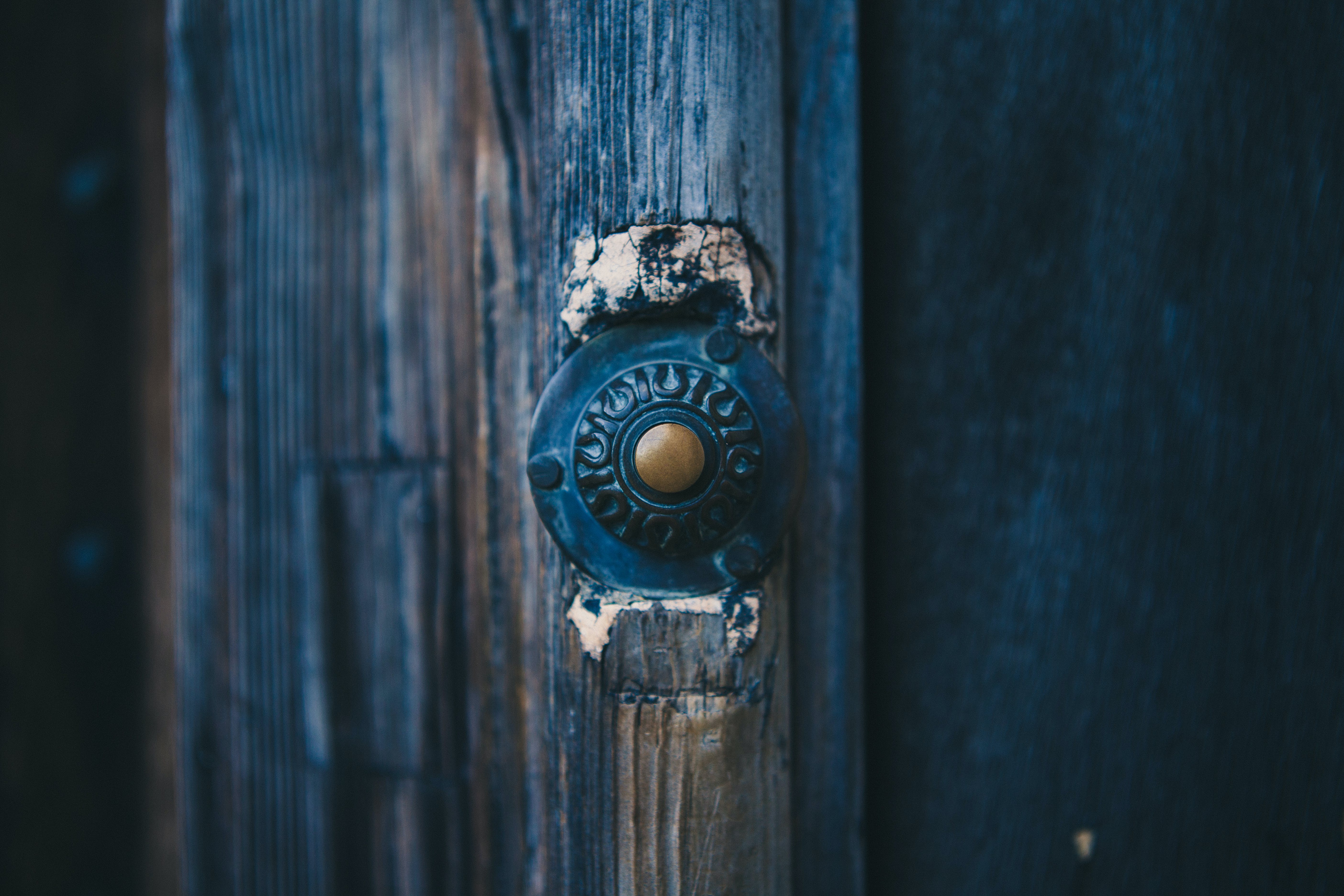 Free stock photo of door, wooden, bell, old