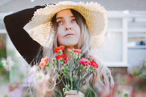 คลังภาพถ่ายฟรี ของ คน, ความงาม, ดอกไม้, น่ารัก