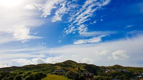 คลังภาพถ่ายฟรี ของ ท้องฟ้า, ท้องฟ้าสีคราม, นิวซีแลนด์, มีเมฆมาก