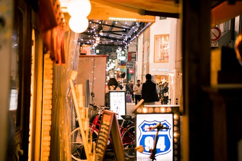 ネオン, 大阪, 居酒屋, 灯籠の無料の写真素材