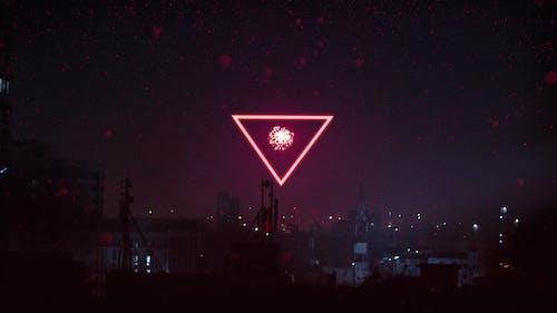 4k 桌面, 城市的燈光, 夜晚的城市 的 免費圖庫相片