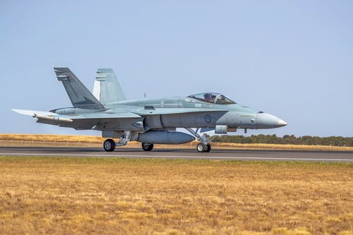 Free stock photo of aircraft, F/A-18A Hornet, fighter aircraft, image