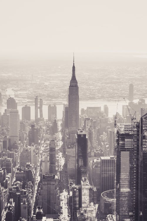 도시 풍경, 엠파이어 스테이트 빌딩, 항공 사진의 무료 스톡 사진
