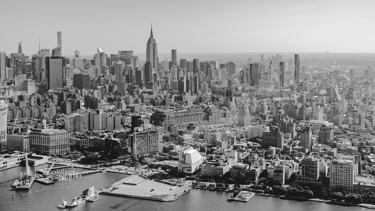 Empire State Building, letecké snímkovanie, mesto New York