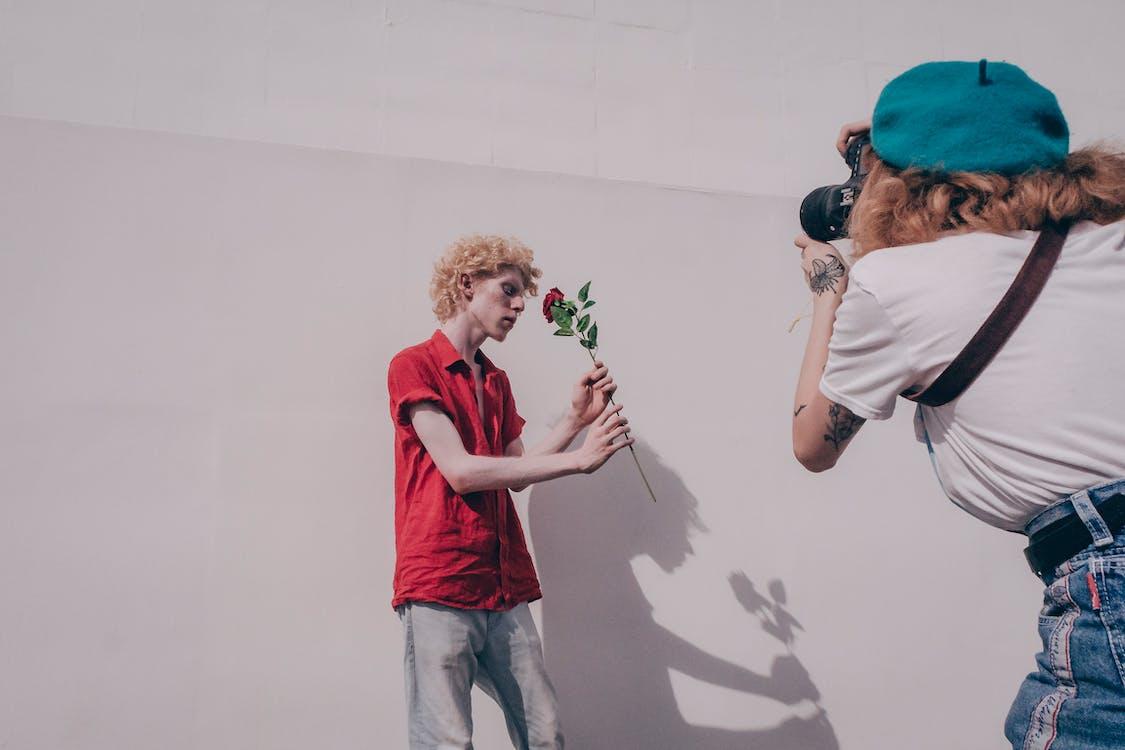 ansiktsuttryck, blomma, fotograf