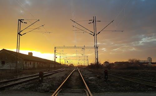 Imagine de stoc gratuită din cale ferată, dimineața devreme, lumina dimineții, soare de dimineață