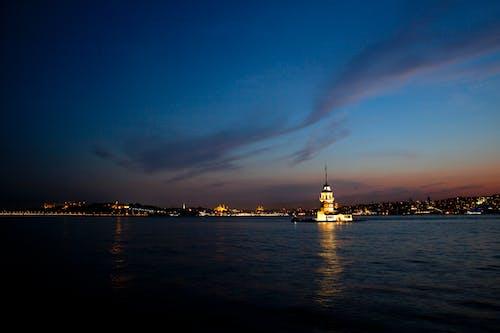 イスタンブールの夜, クズクレシ, ダーク, 乙女の塔の無料の写真素材