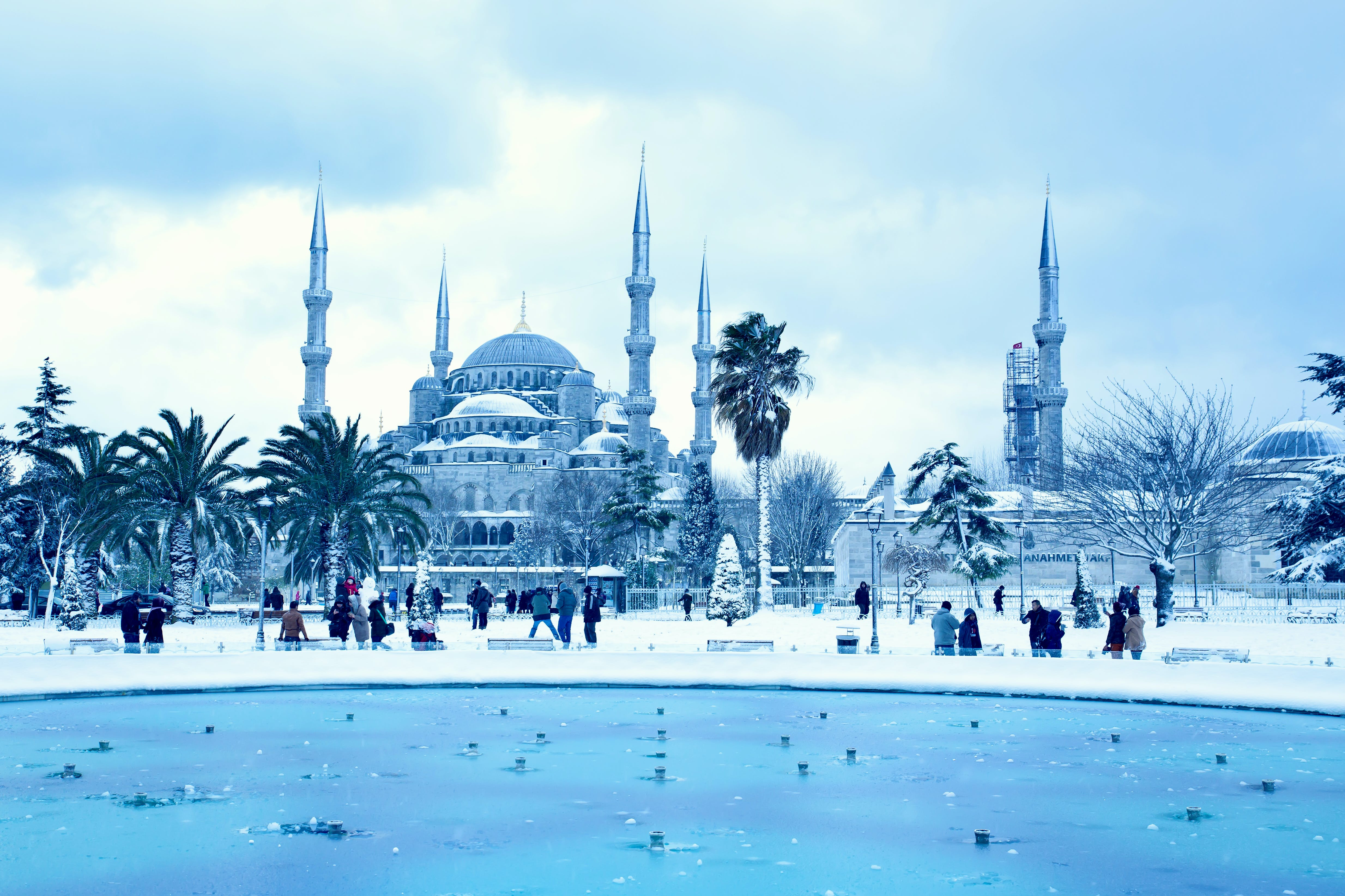Free stock photo of bluemosque, frozen, ice, Istanbul