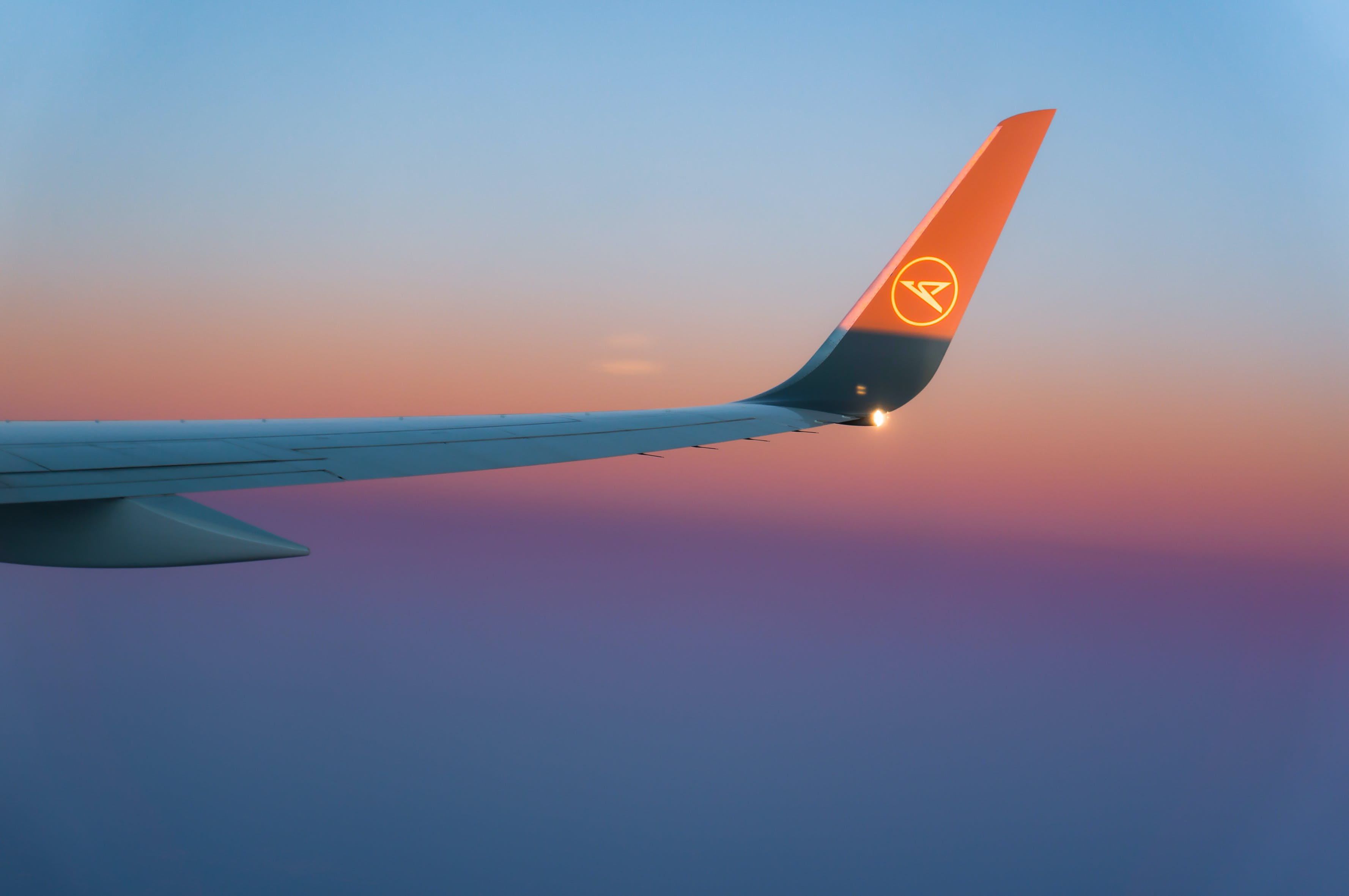 Free stock photo of airplane wing, blue, flight, flying