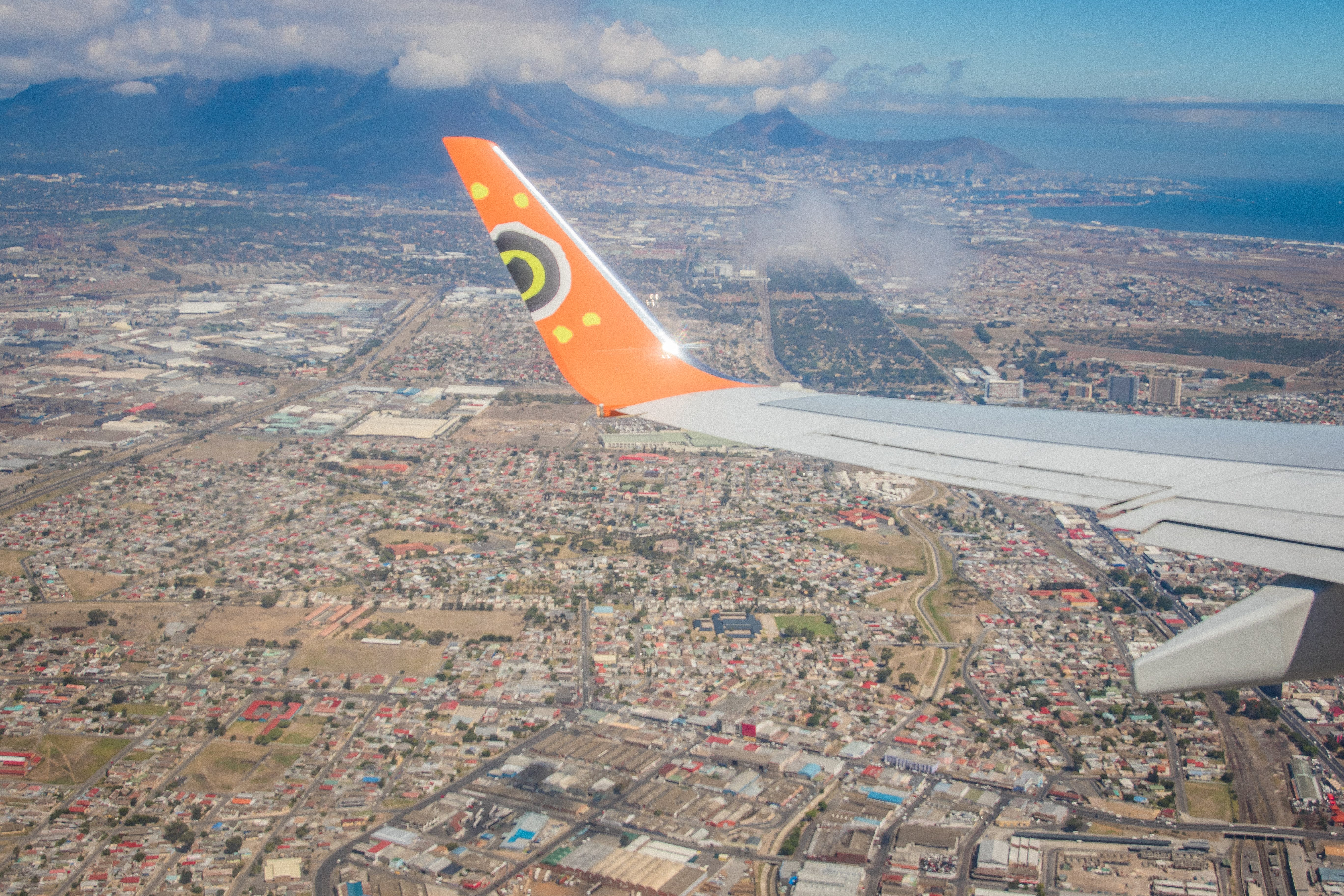 Free stock photo of aerial shot, aerial view, aeroplane, Cape Town