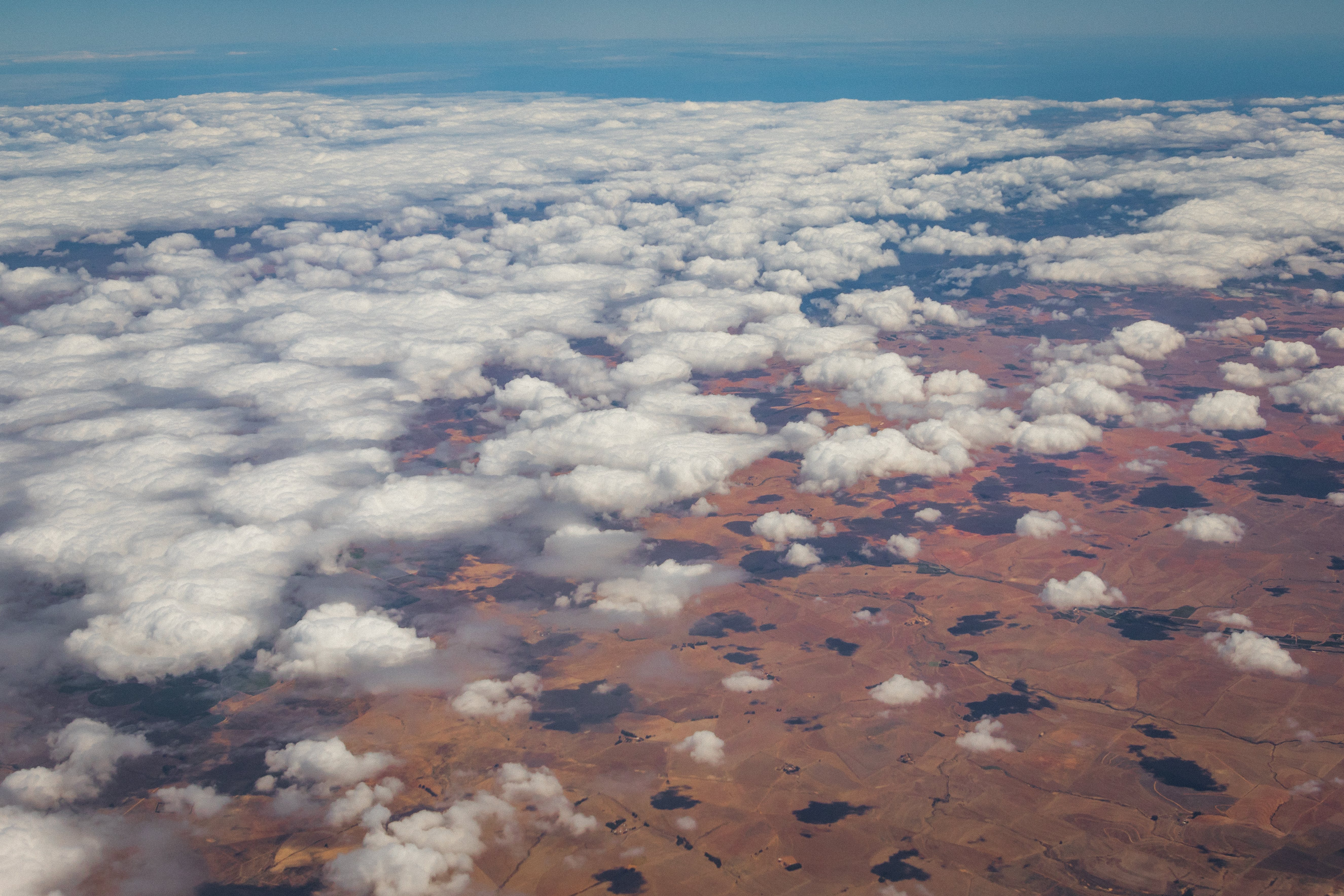 Free stock photo of aerial shot, aerial view, aeroplane, clouds