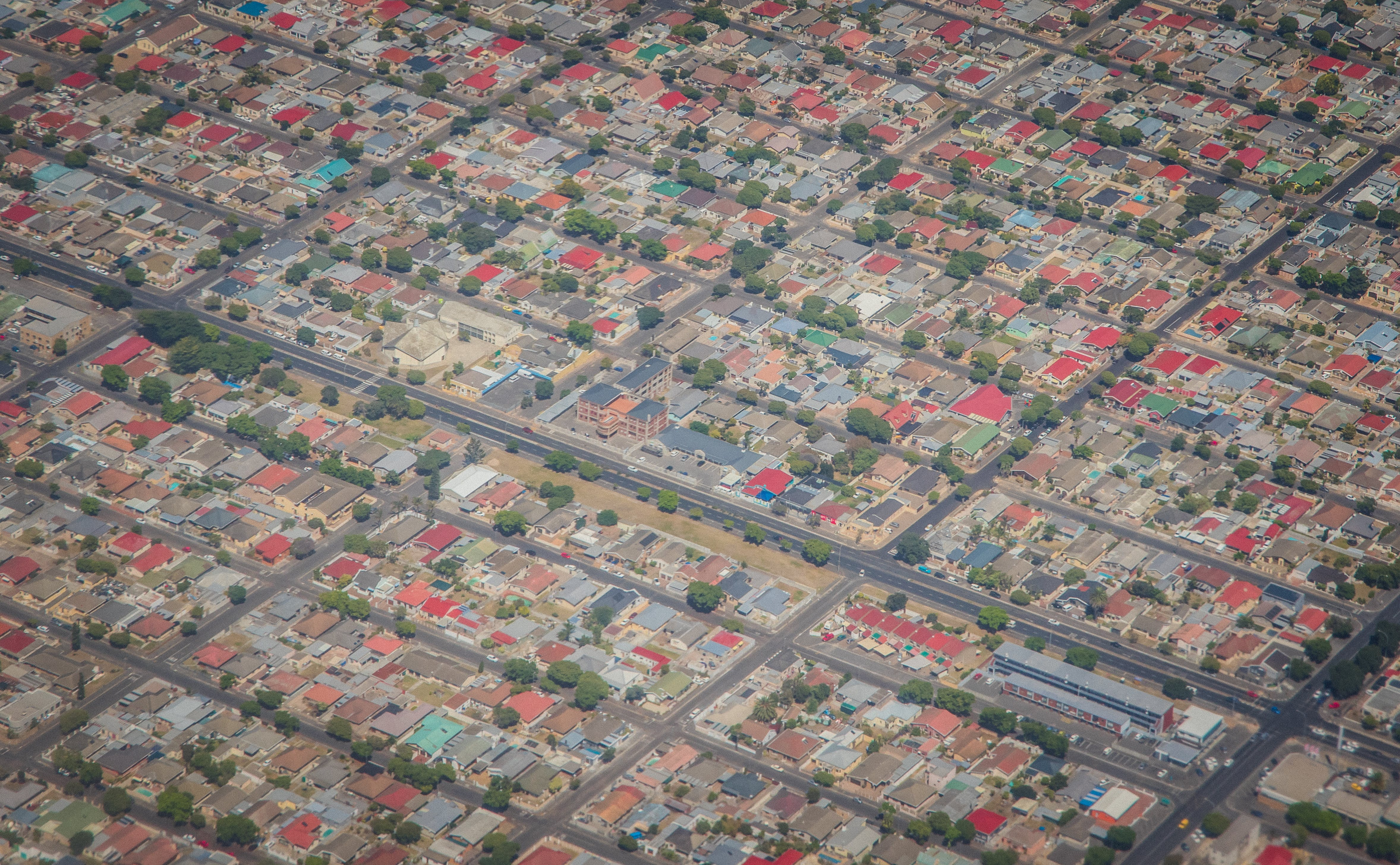 Free stock photo of aerial shot, aerial view, city, community